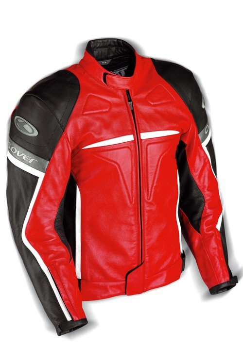 Pánská kožená bunda CLOVER Douglas (červená) 48