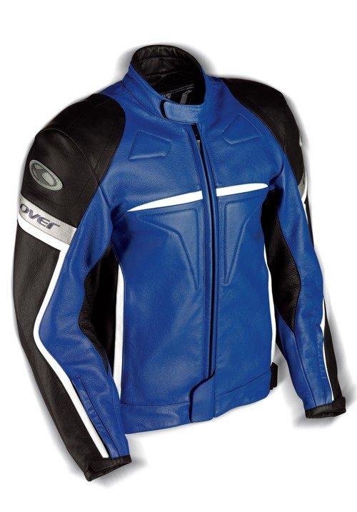 Pánská kožená bunda CLOVER Douglas (modrá) 48