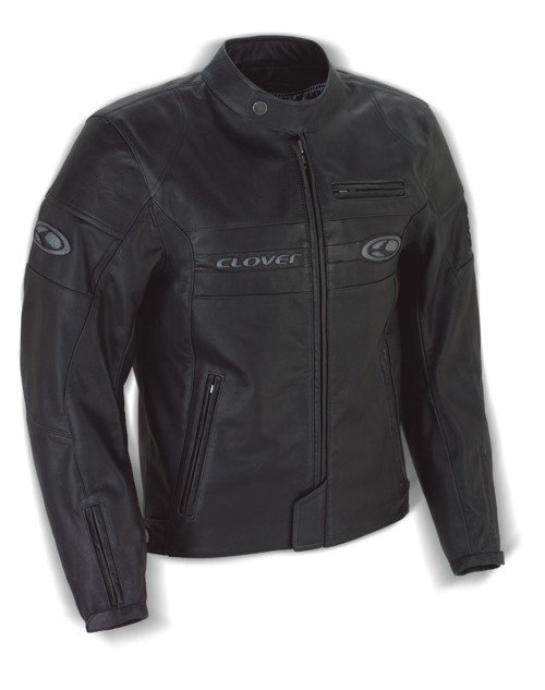 Pánská kožená bunda CLOVER Blackhill (černá) 48