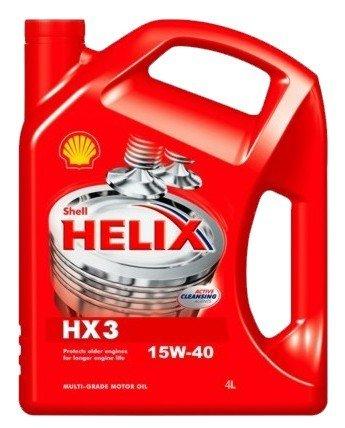 Minerální motorový olej SHELL Helix HX3 15W-40 4L