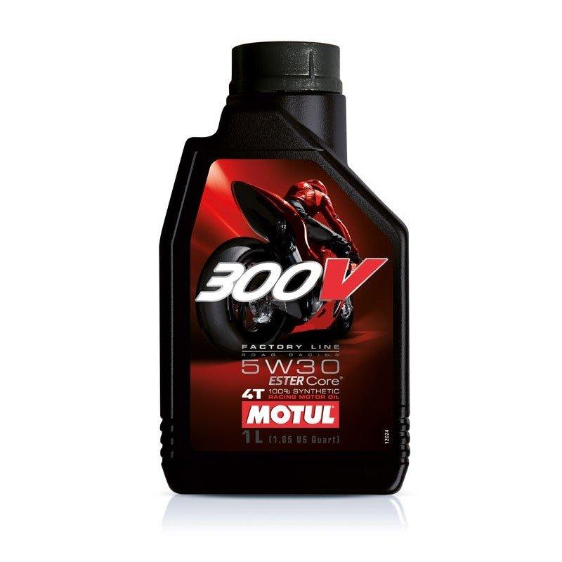Syntetický motorový olej MOTUL 300V 4T 5W30 1L
