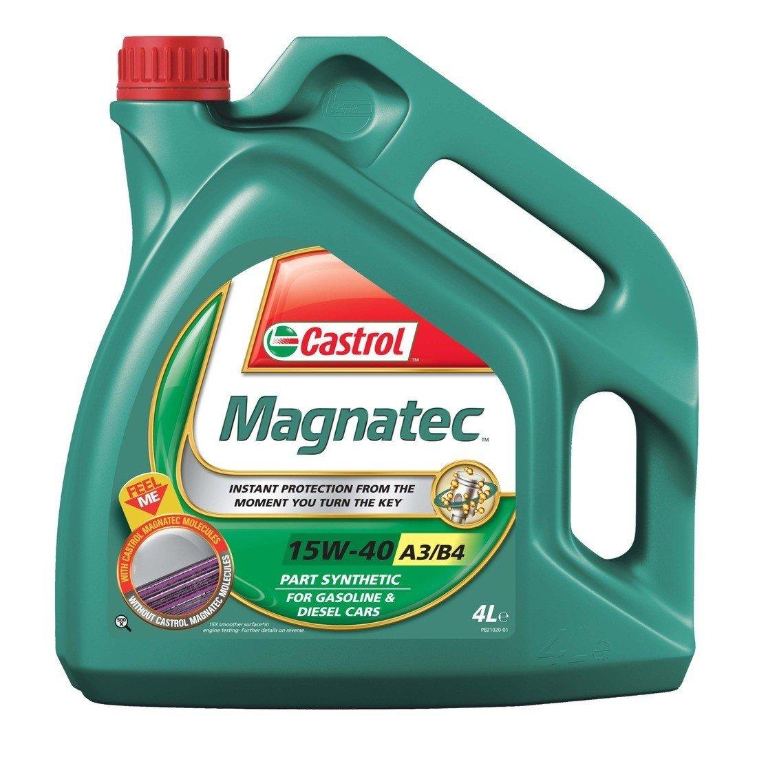 Polosyntetický motorový olej CASTROL Magnatec 15W40 A3/B4 4L