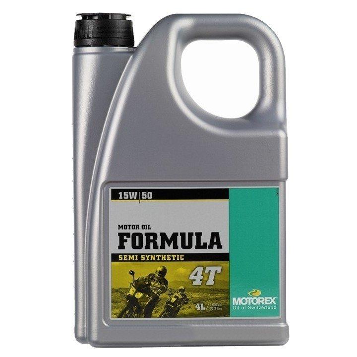 Moderní polosyntetický motorový olej MOTOREX Formula 4T 15W50 (4 litry)