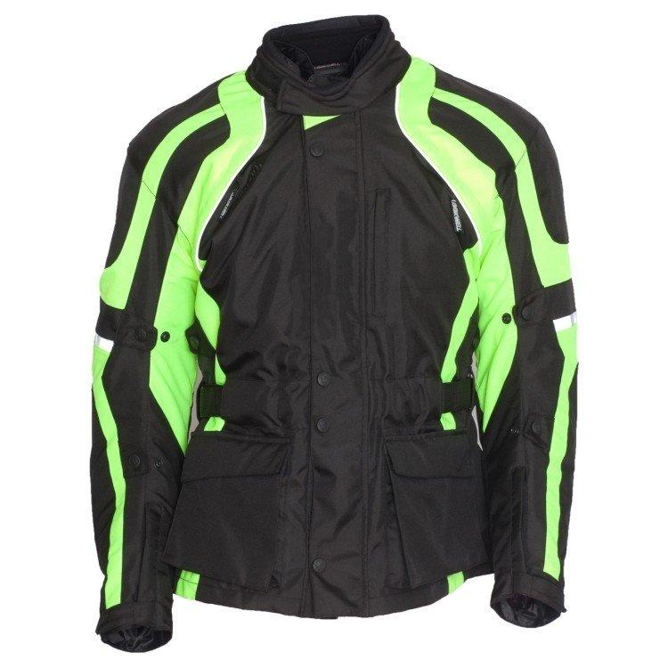 Pánská textilní bunda LOOKWELL Commander (černo/neonově žlutá) 5XL