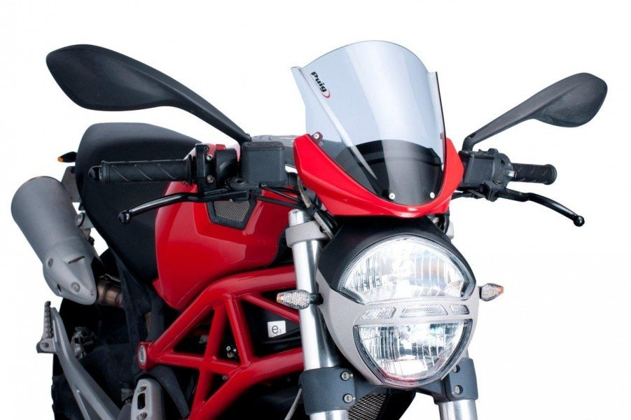 Puig 5650 Racing Screens Ducati Monster 1100 (09-12) Čirá (W)