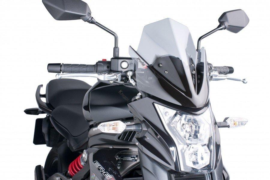 "Puig 5997 Windscreens Naked ""New Generation"" Kawasaki ER-6N (12-16) Čirá (W)"