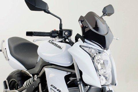 "Puig 4950 Windscreens ""Naked New Generation"" Kawasaki ER-6N (09-11) Čirá (W)"