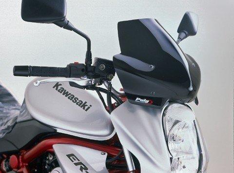 "Puig 4116 Windscreens ""Naked New Generation"" Kawasaki ER-6N (06-08) Kouřová (H)"