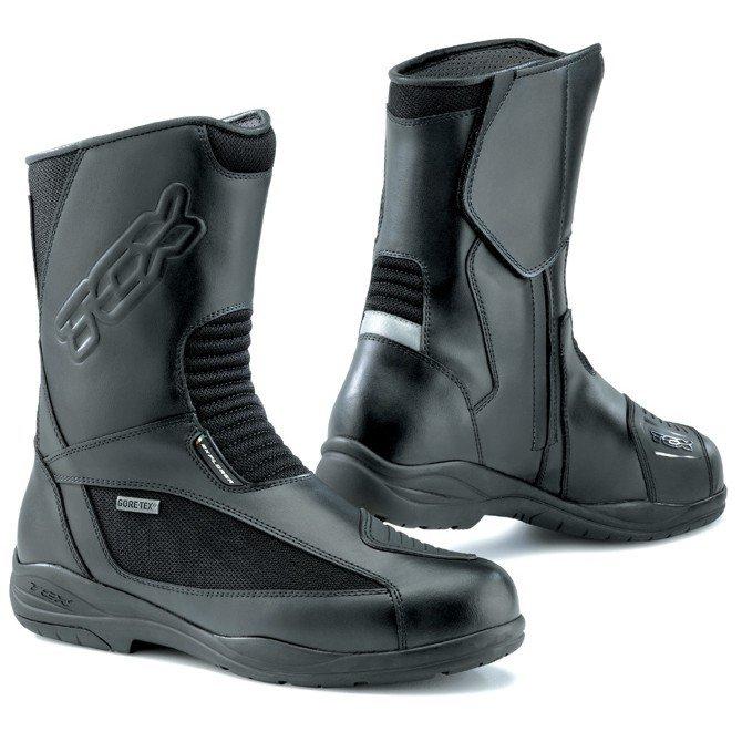Turistické motocyklové boty TCX Explorer Evo s voděodolnou Gore-Tex membránou (černé) 36