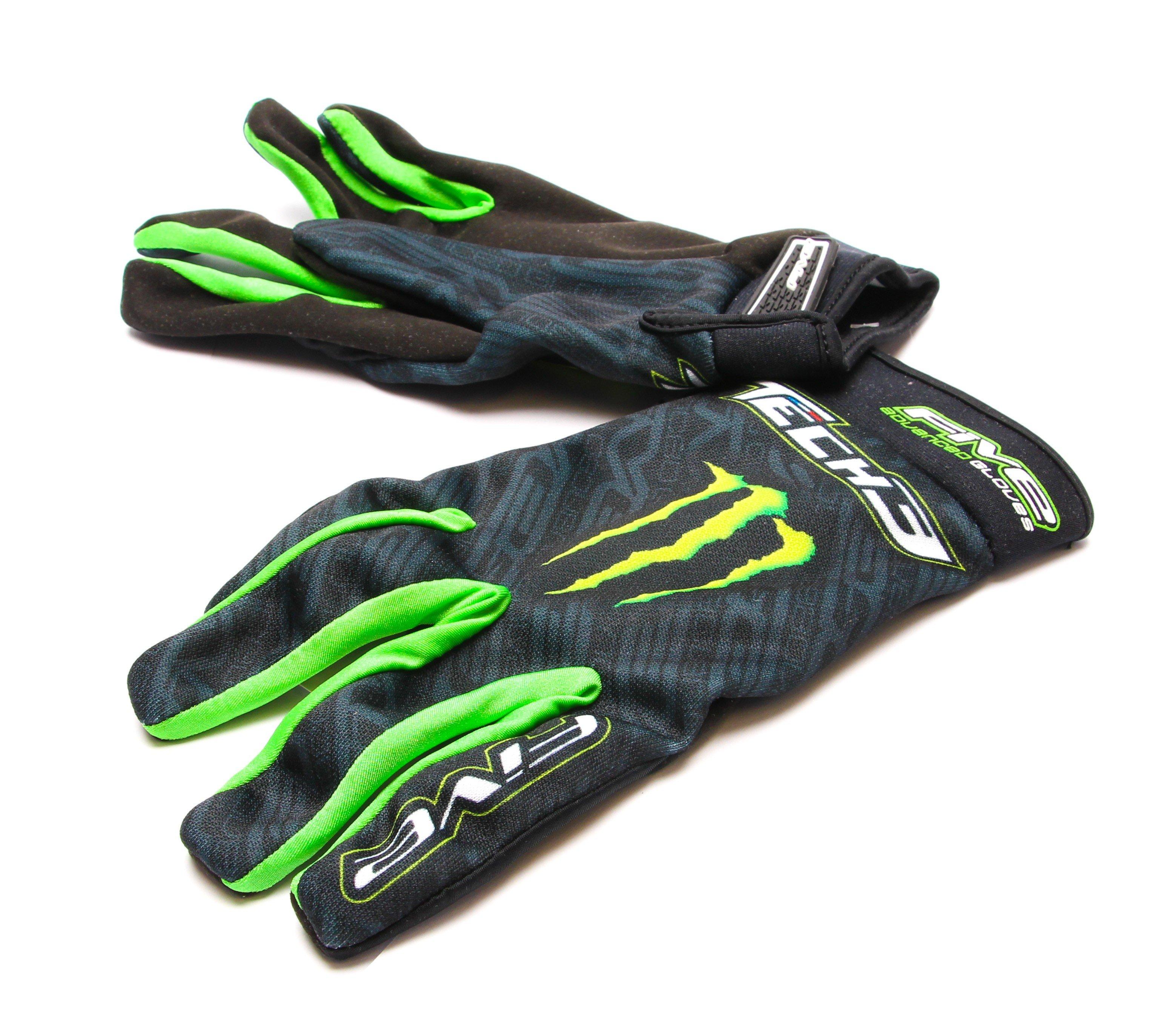 Motocyklové rukavice FIVE Planet Tech 3/Monster (černo/zelené) XXL