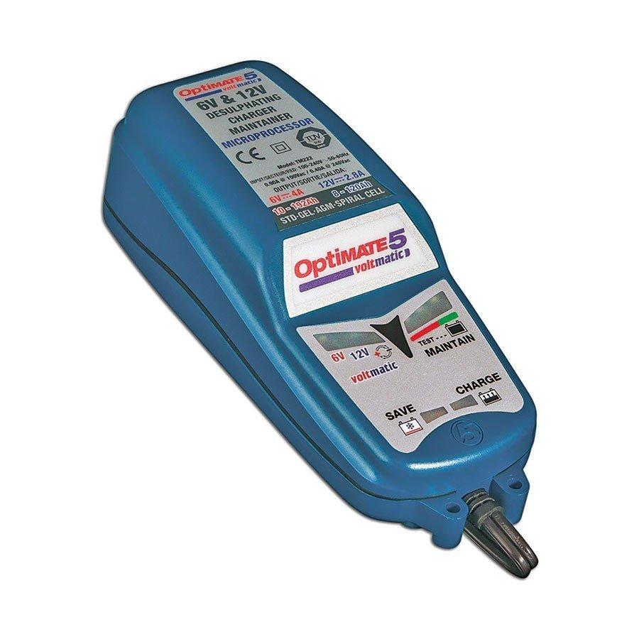 Plně automatická nabíječka baterií TECMATE OptiMate5 Voltmatic (6V/4A-12V/2,8A)