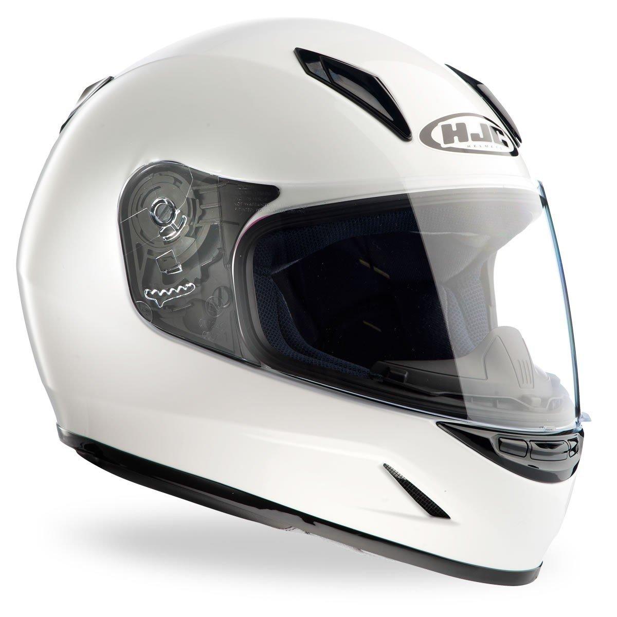 Dětská motocyklová přilba menší velikosti HJC CL-Y Solid White (bílá) JS (50-51)