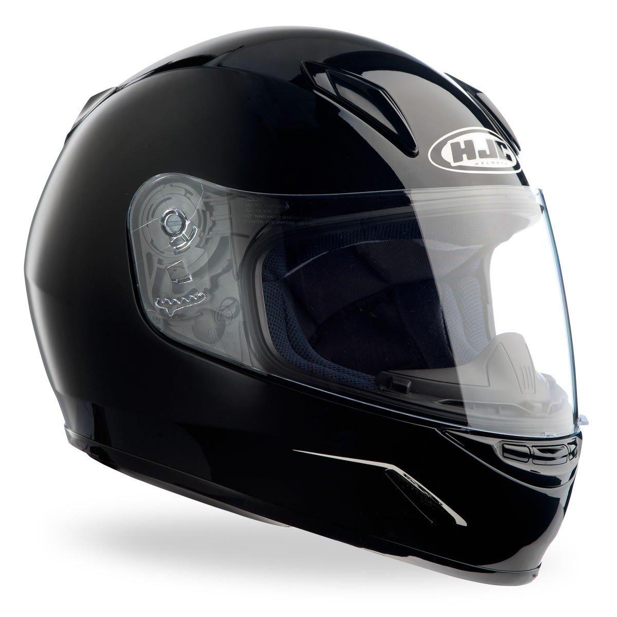 Dětská motocyklová přilba menší velikosti HJC CL-Y Solid Black (černá) JS (50-51)