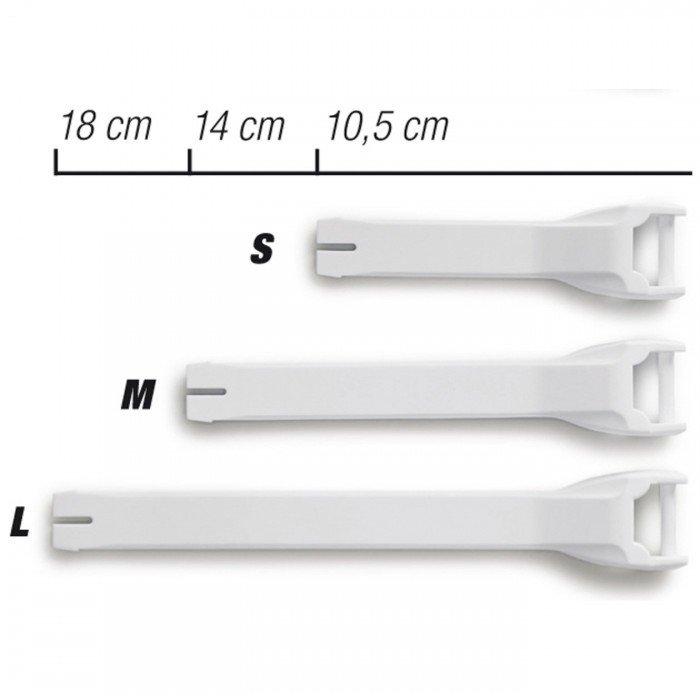 Náhradní PU pásek k motocyklové MX obuvi FORMA (bílý) S