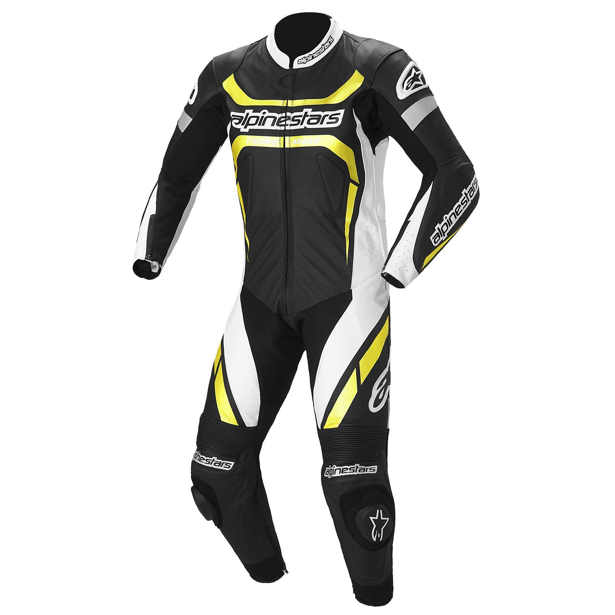 Alpinestars Motegi 1PC Black/White/Yellow 48