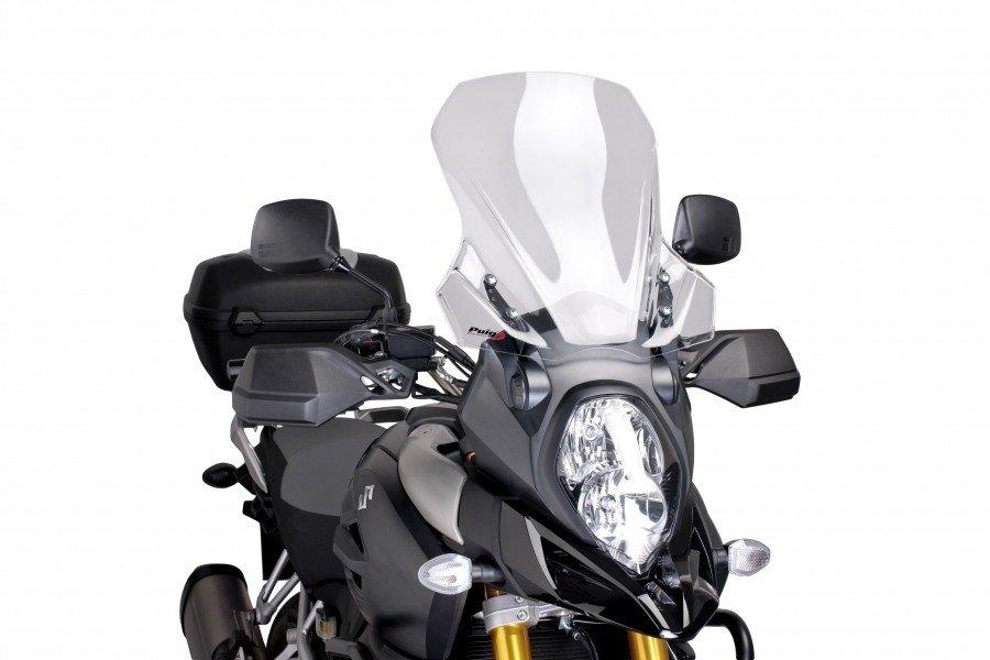 """Plexi štít PUIG """"Touring"""" na Suzuki DL1000 V-Strom (14-16) Čirá (W)"""