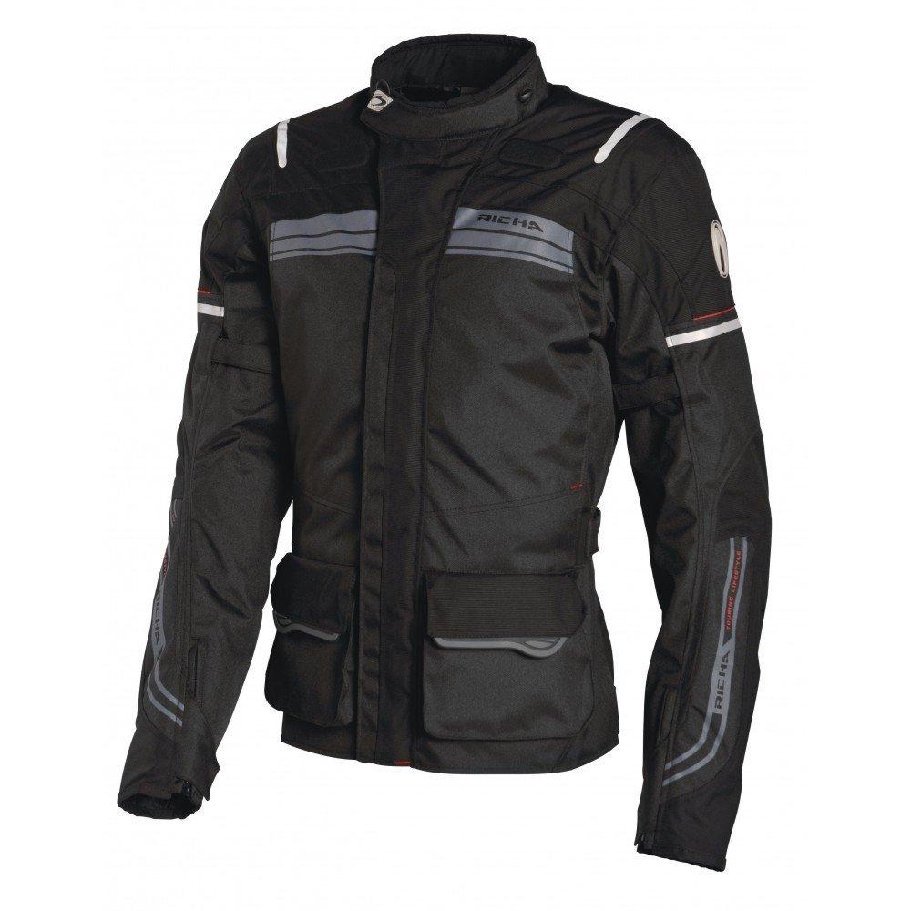 Pánská textilní moto bunda RICHA Phantom (černá) 5XL