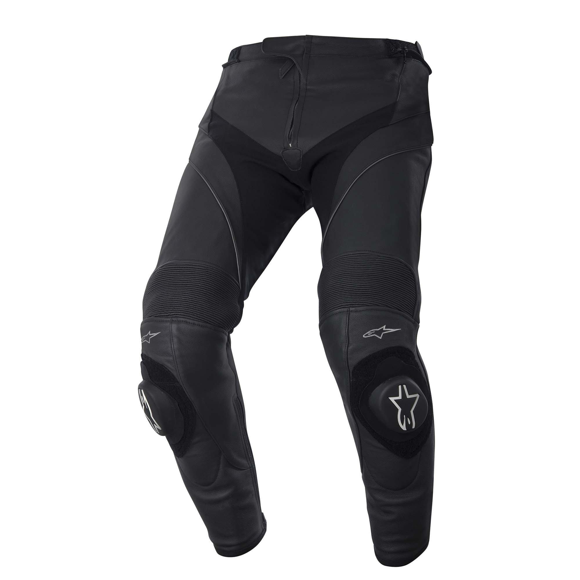 Pánské kožené kalhoty ALPINESTARS Missile (černé) 48