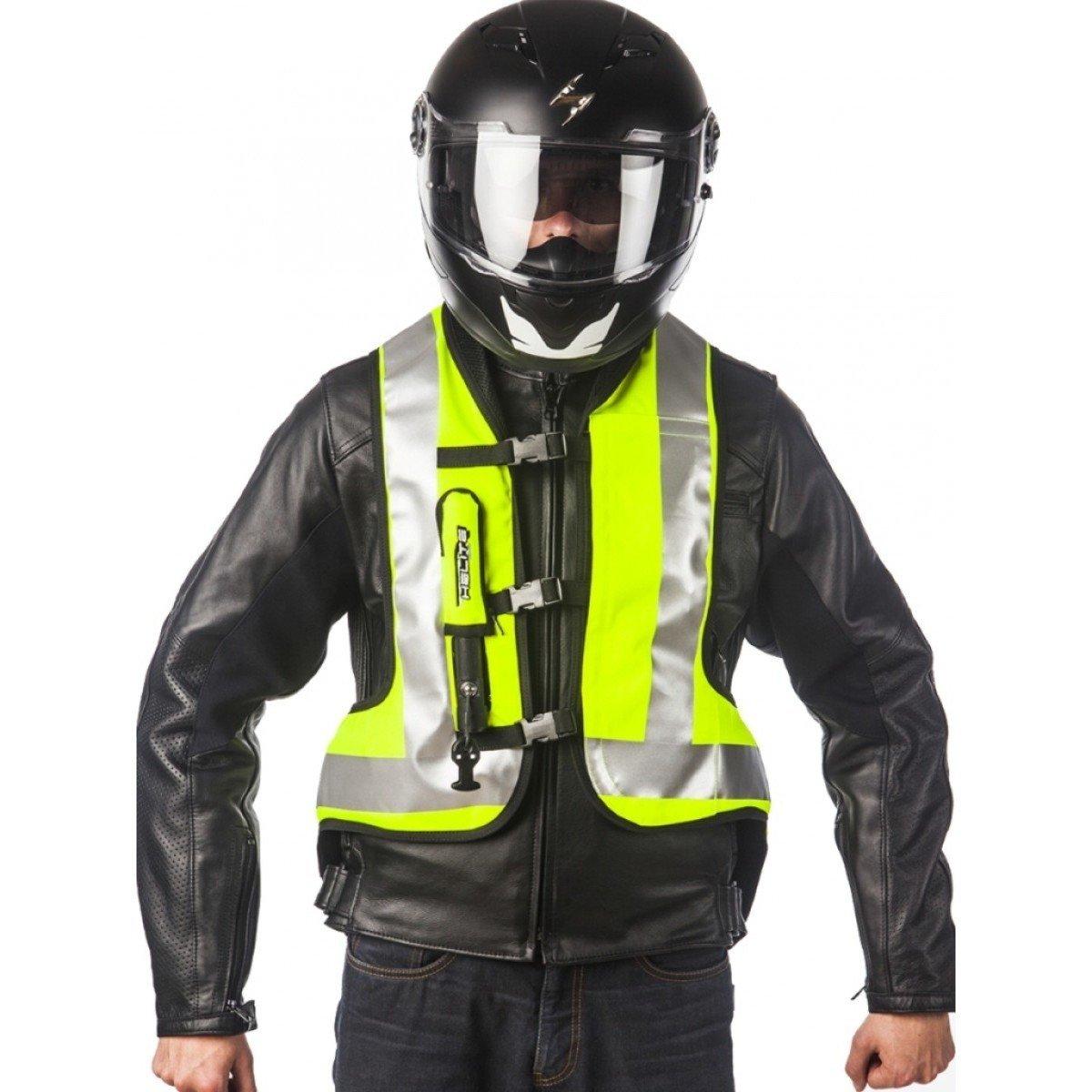 Bezpečnostní motocyklová vesta s airbagem HELITE Turtle (reflexní žlutá) XS