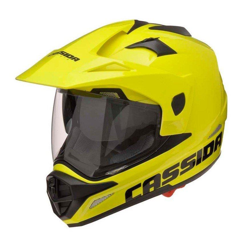 Motocyklová enduro přilba CASSIDA Tour (neonově žlutá) XXL (63/64)