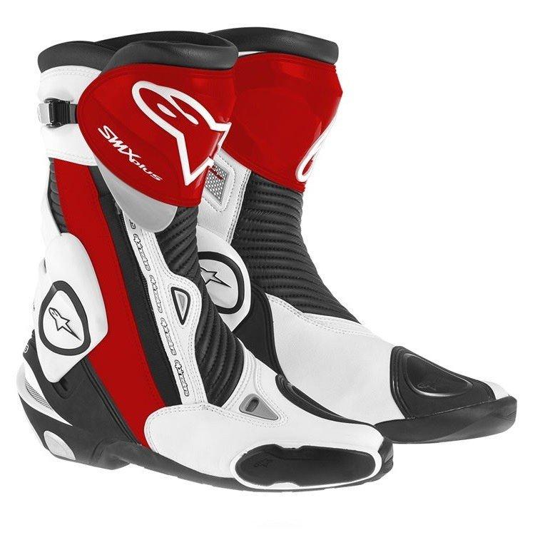 Pánské motocyklové boty ALPINESTARS S-MX Plus (černo/bílo/červené) 40