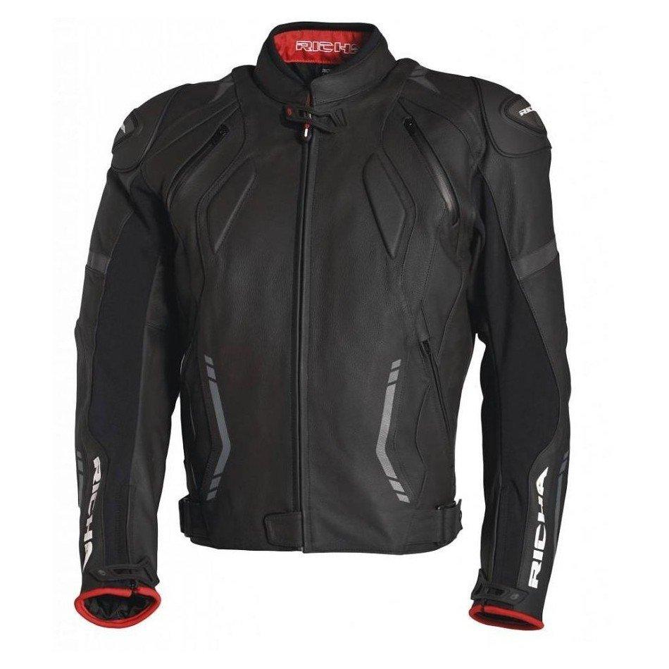 Pánská kožená bunda RICHA Mugello (černá) 60