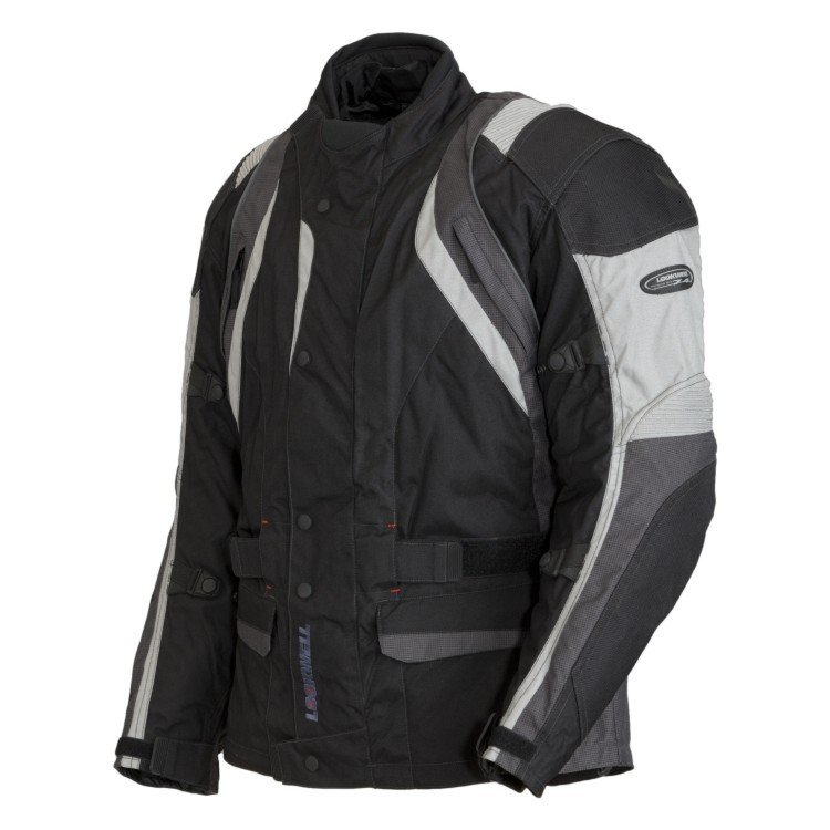 Pánská textilní bunda LOOKWELL Rivage (černá/šedá) 5XL