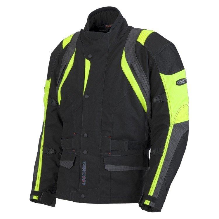 Pánská textilní bunda LOOKWELL Rivage (černá/žlutá fluo) 5XL