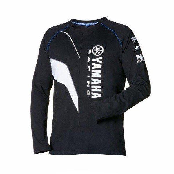 Pánské tričko s dlouhým rukávem YAMAHA Paddock Blue 2016 (černo/bílé) S