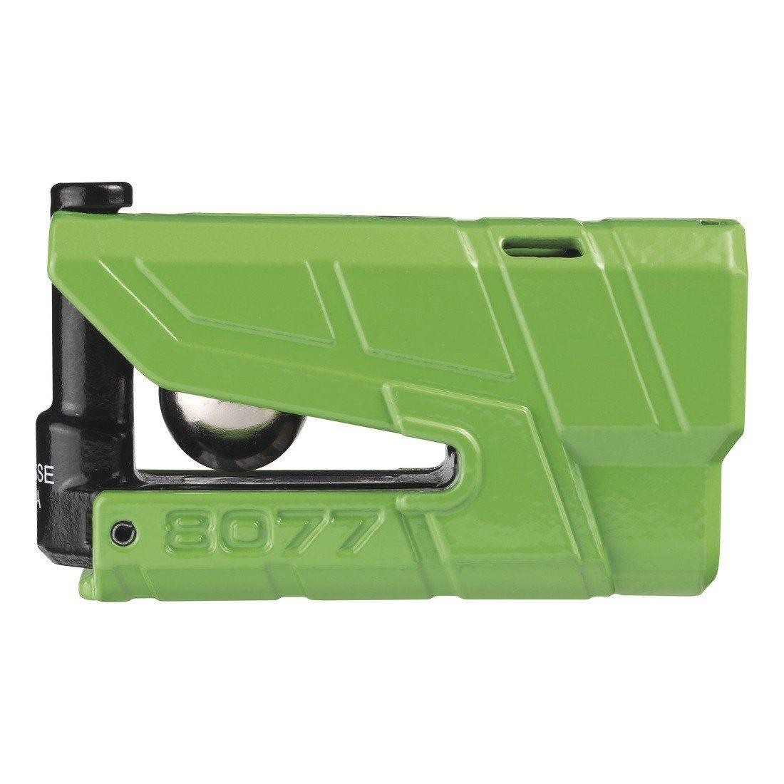 Bezpečnostní zámek na kotouč brzdy s alarmem a pohybovým čidlem 360° ABUS Granit Detecto 8077 (zelený)