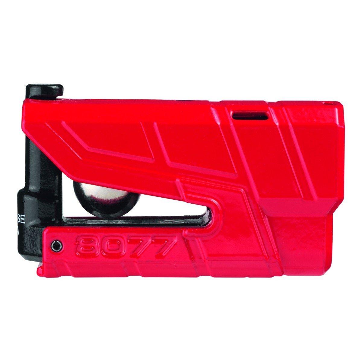Bezpečnostní zámek na kotouč brzdy s alarmem a pohybovým čidlem 360° ABUS Granit Detecto 8077 (červený)