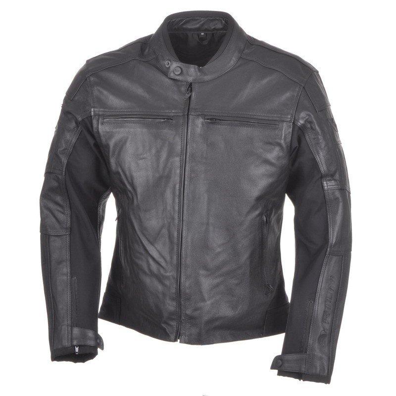 Pánská kožená bunda AYRTON Classic (černá) 46