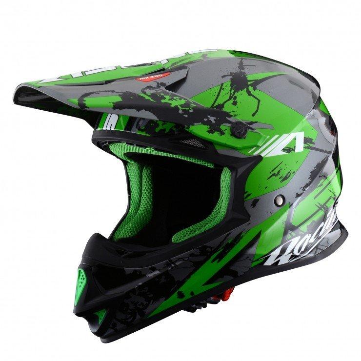 Motokrosová přilba ASTONE MX 600 Giant Glitter (zelená) XXL (63/64)