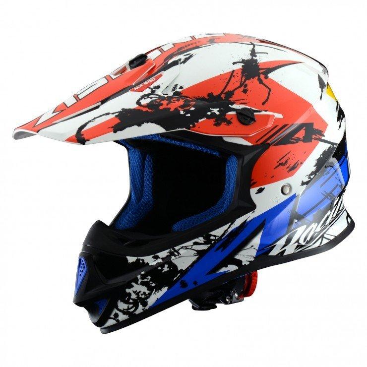 Motokrosová přilba ASTONE MX 600 Wild (modro/červeno/bílá) XXL (63/64)