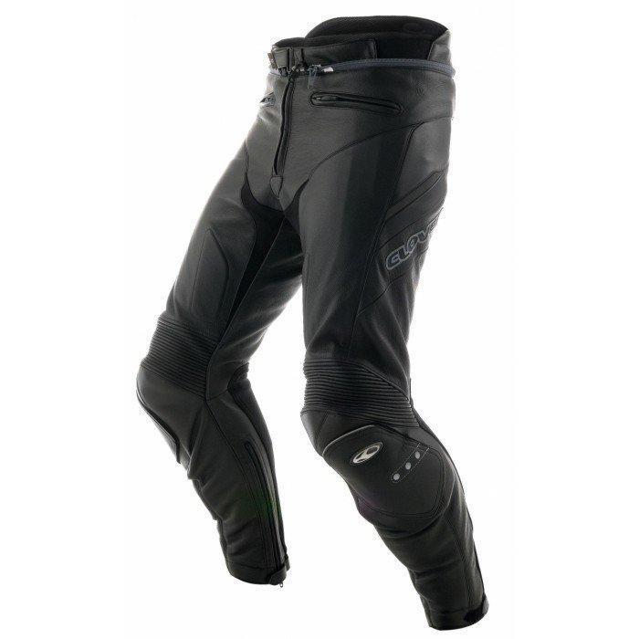 Pánské kožené kalhoty na motocykl CLOVER Triforce (černé) 54