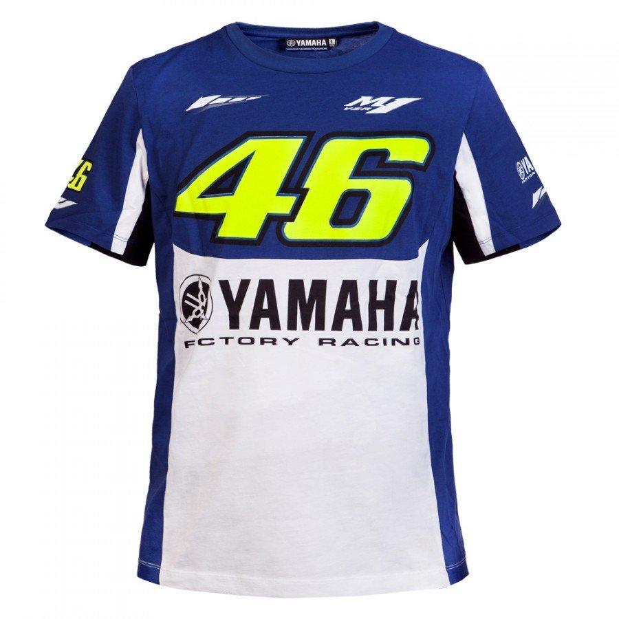 Vr46 Pánské triko Yamaha Dual bílo/modré M