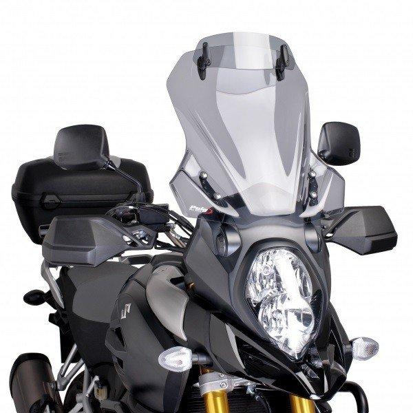 """Nastavitelný plexi štít PUIG """"Touring"""" na Suzuki DL1000 V-Strom (14-17) Kouřová (H)"""