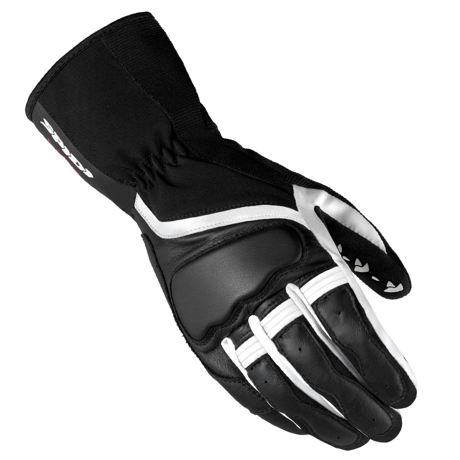 Dámské rukavice v kombinaci kůže/textil SPIDI Grip 2 (černo/bílé) XS