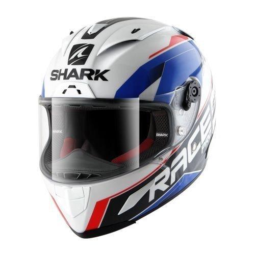 Shark Race-R Pro Sauer White/Blue/Red S (55/56)
