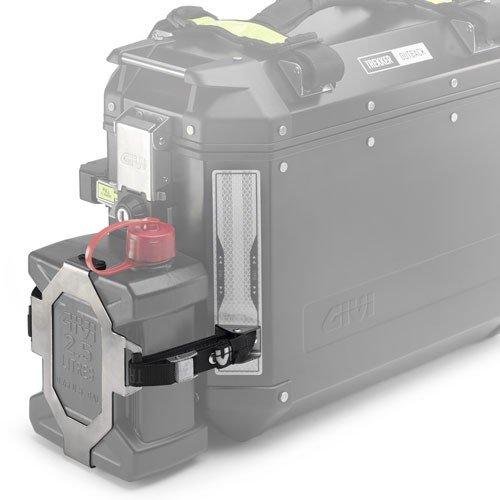 Nerezový držák kanystru GIVI E148 pro hliníkové kufry GIVI Outback univerzální