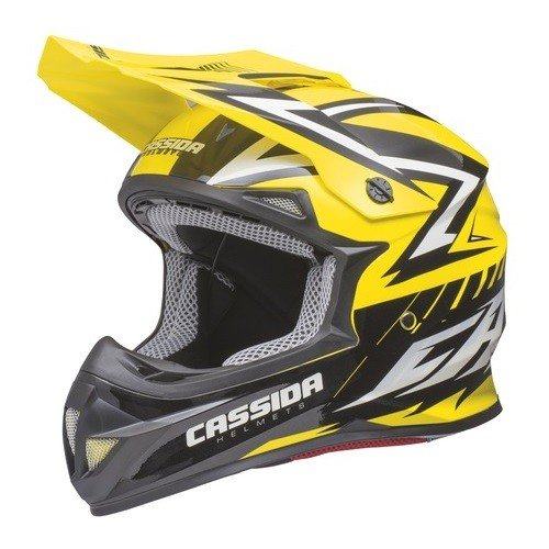 Cassida Cross Cup Yellow Fluo/Black/Pearl White L (59/60)