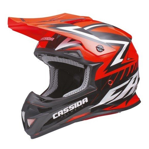Cassida Cross Cup Red Fluo/Black/Pearl White L (59/60)