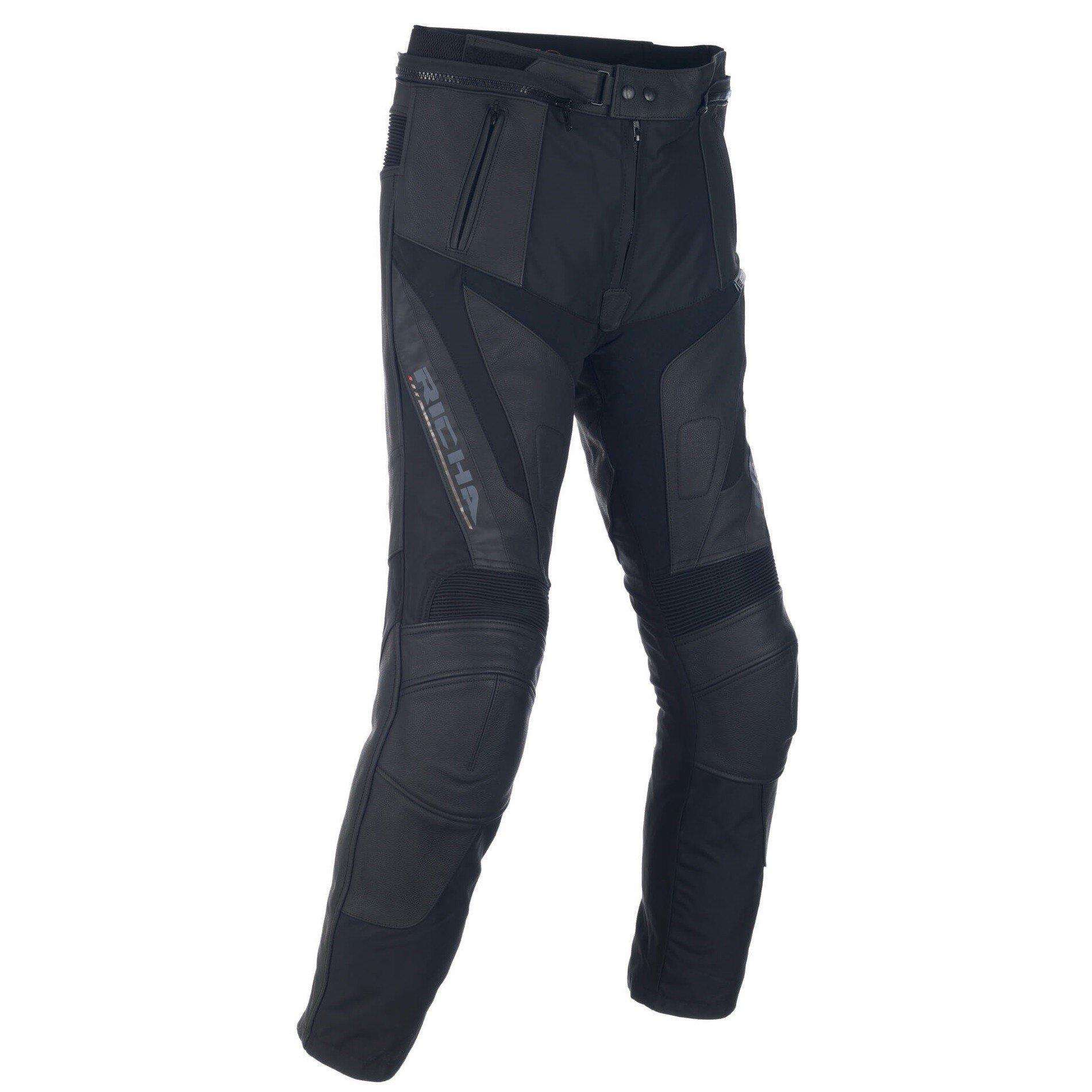 Pánské kožené kalhoty na motocykl RICHA Ballistic (černé) 50