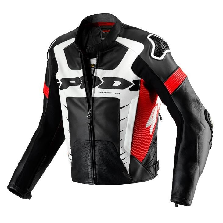 Pánská kožená bunda SPIDI Warrior Pro (černo/červená) 50