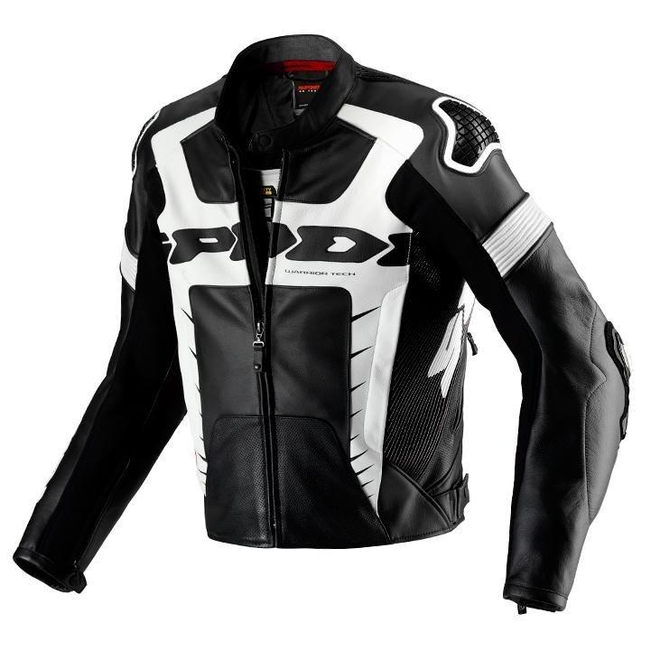 Pánská kožená bunda SPIDI Warrior Pro (černo/bílá) 52