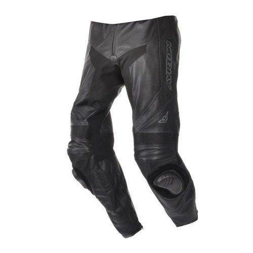 Pánské kožené kalhoty na motocykl AYRTON Evo (černé) 48