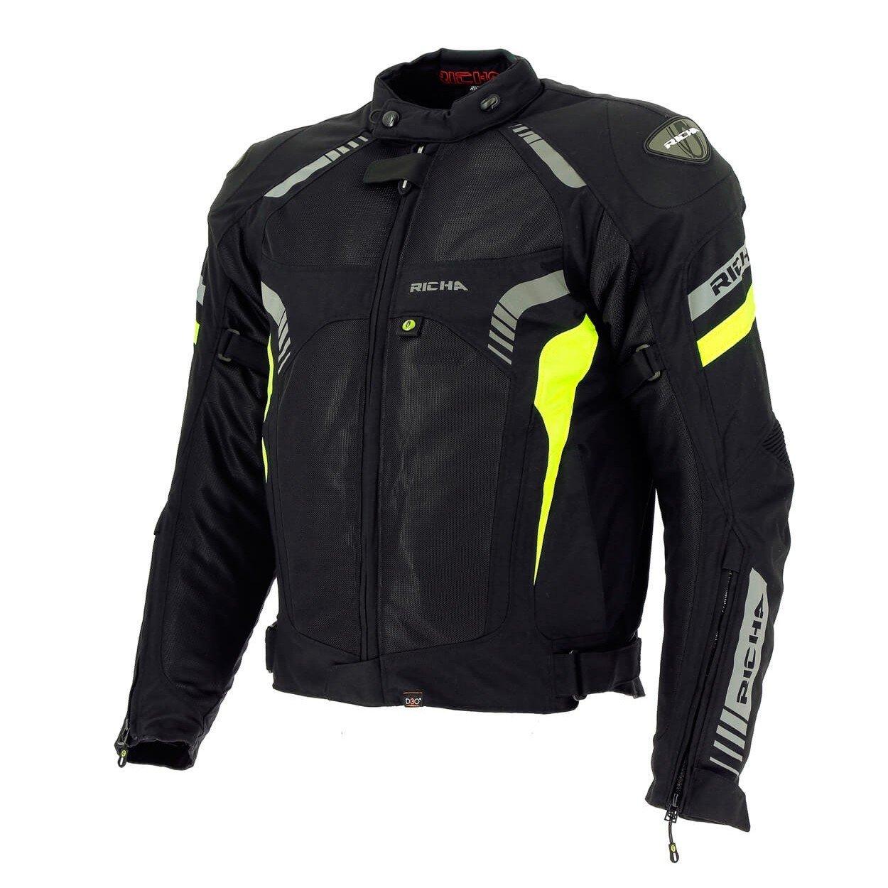 Pánská textilní bunda RICHA Airforce (černo/neonově žlutá) 5XL