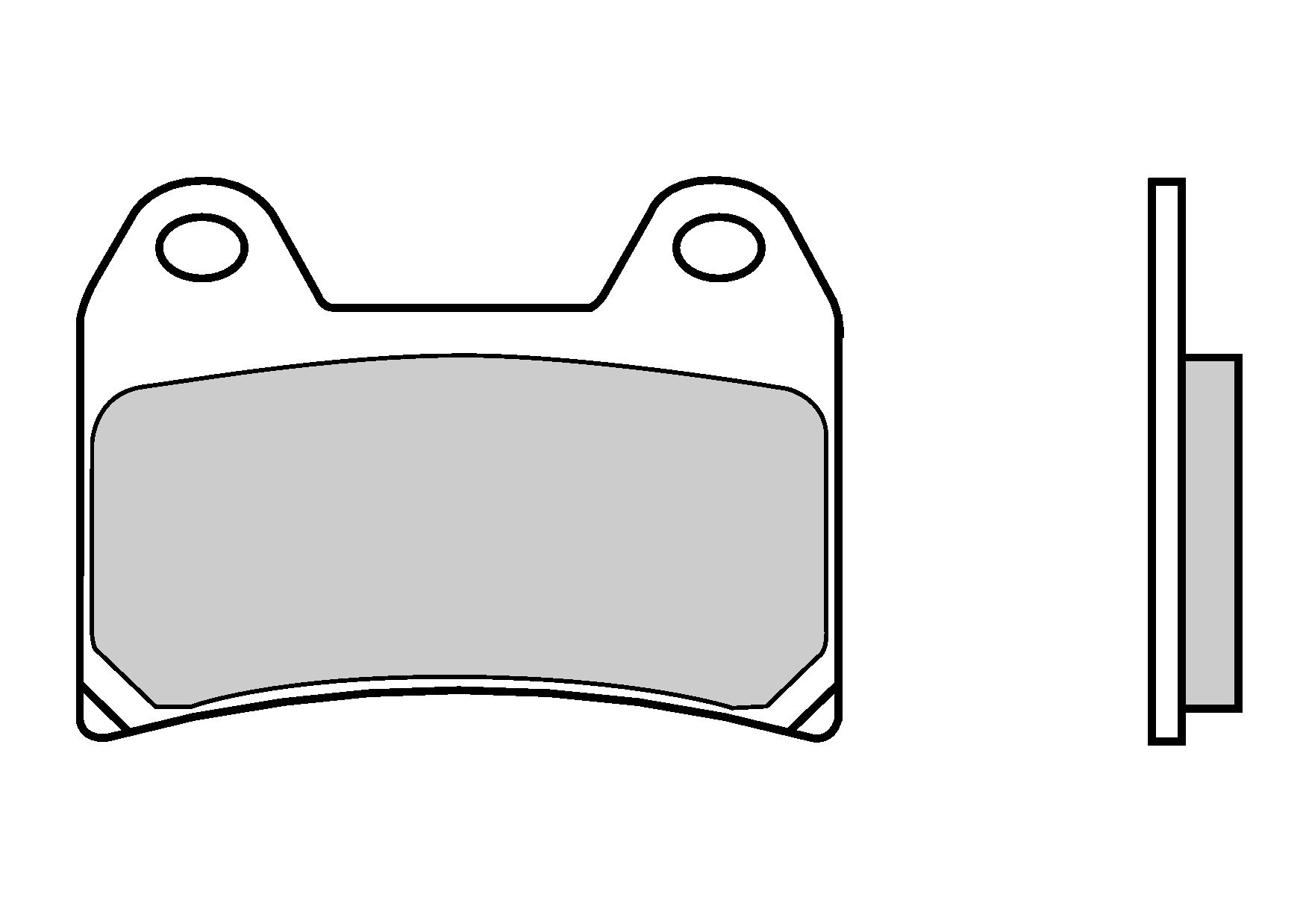 Motocyklové brzdové destičky BREMBO 07BB19 SC sinterové