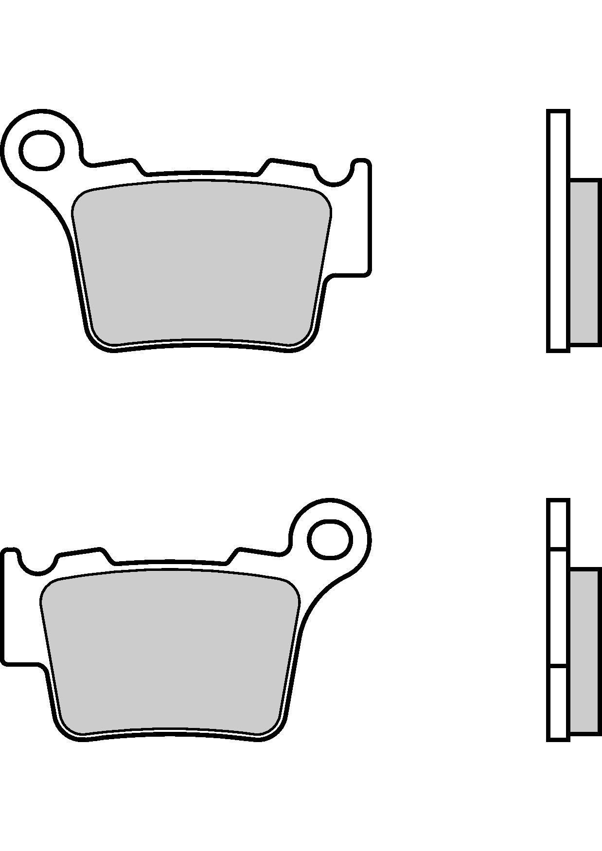 Motocyklové brzdové destičky BREMBO 07BB27 SX sinterové