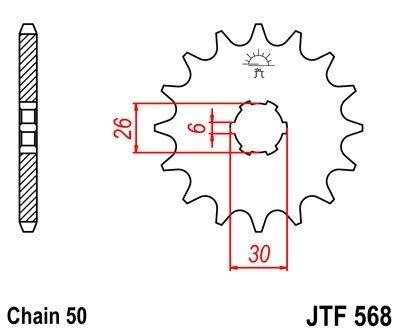 JT Sprockets Řetězové kolečko JTF 568.16